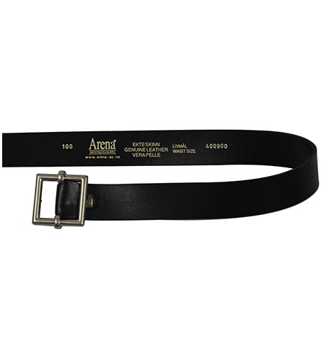 BLACK LEATHER BELT MADE ITALY