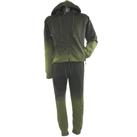 Black and Green Track Suit Green 5764A