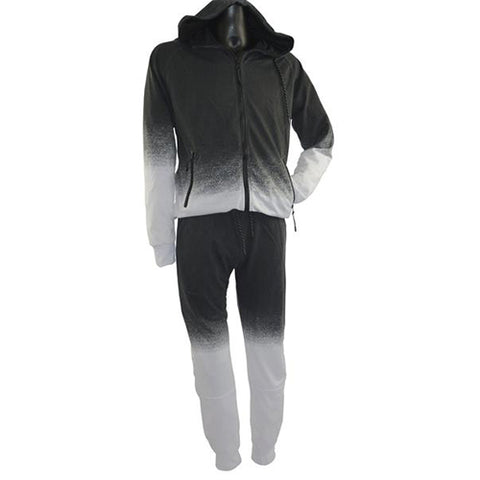 Black and White Track Suit White 5764