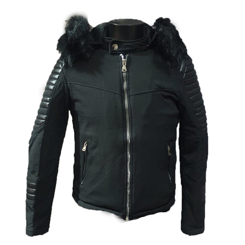 Detachable Black hooded Jacket