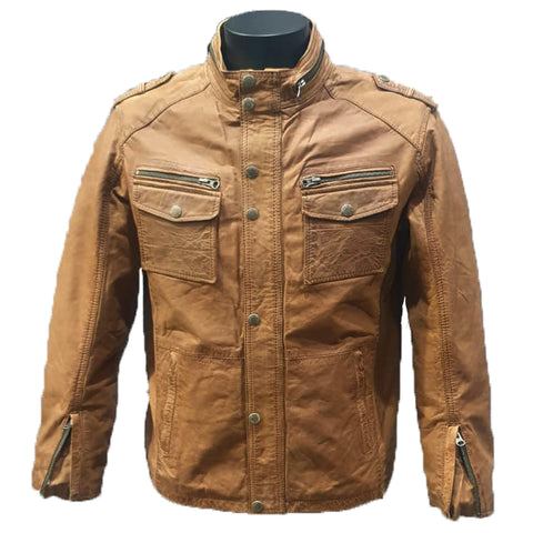 Tan Soft Leather Jacket