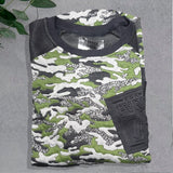 Camouflage Green & Black Top