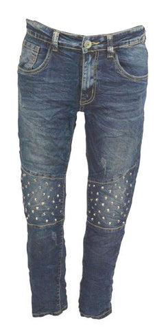 Stud jeans Ankle length.