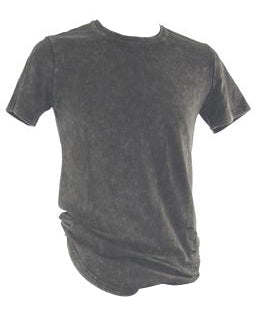 Black Washed Charcoal T-Shirt 5798
