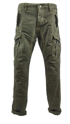 Cargo Jeans Olive Green 2591
