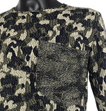 Camouflage Long Sleeved Knitwear with Pocket