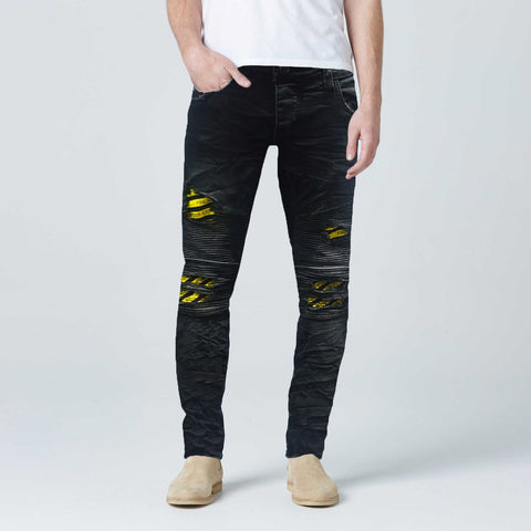 Black  Ripped  Biker Style Skinny Fit Jeans