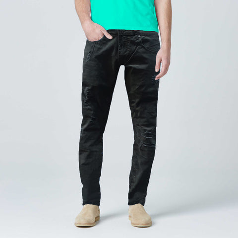Black Ripped Jeans Slim Fit  Jeans