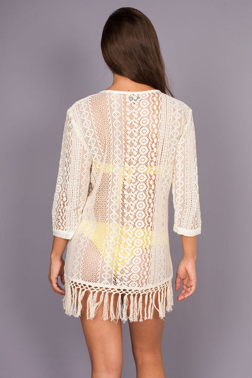 Pili Crochet Cotton Beach Cover Up