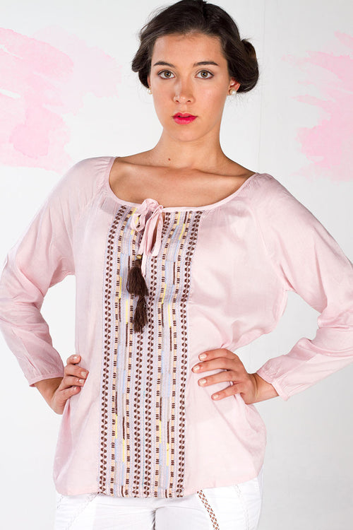 Dancing Top with Embroidered Front