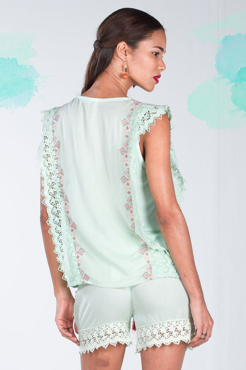 Never Plastic Top with Lace Sides