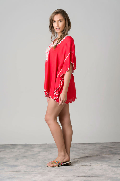 Devas Embroidered Beach Top