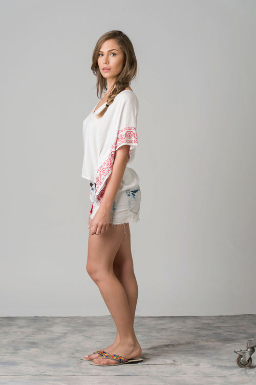 Panchito Embroidered Beach Top
