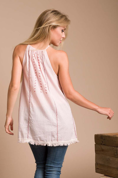 Celestine Top with Lace Up Front