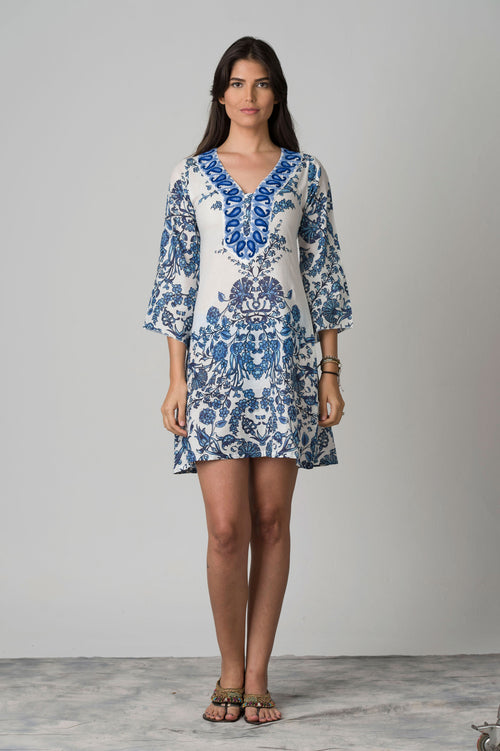 Calcuta Embroidered Neck Beach Tunic