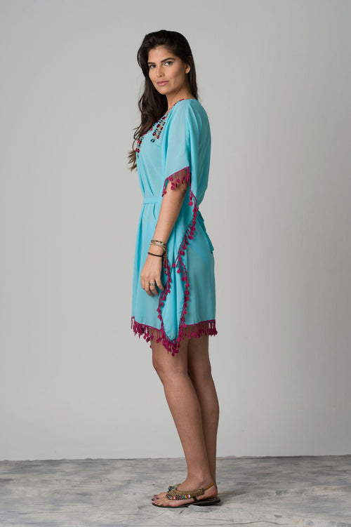 Danubio Lace-Up Waist Beach Tunic
