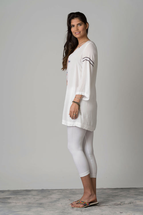 Telepatia Delicate Embroidery Beach Tunic