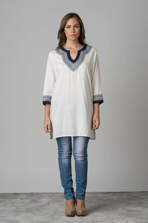 Api Embroidered Tunic