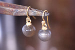 Grey Moonstone Earrings