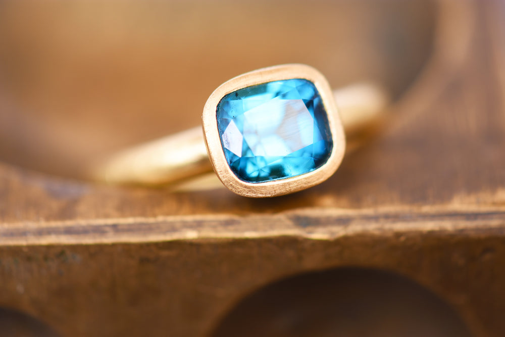 Royal indigo tourmaline ring.