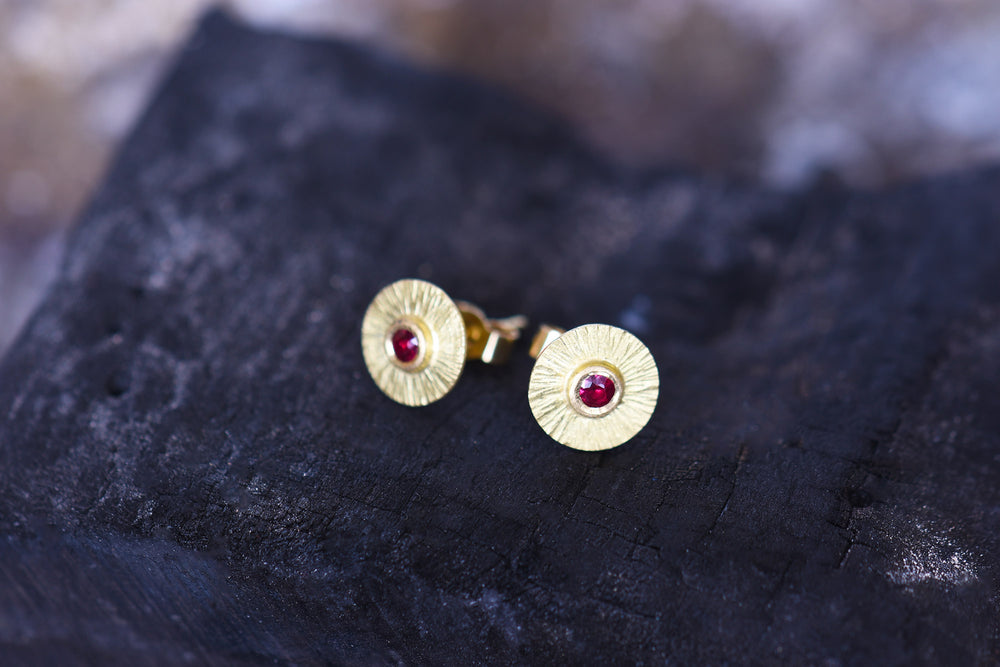 Ruby Ray Earrings