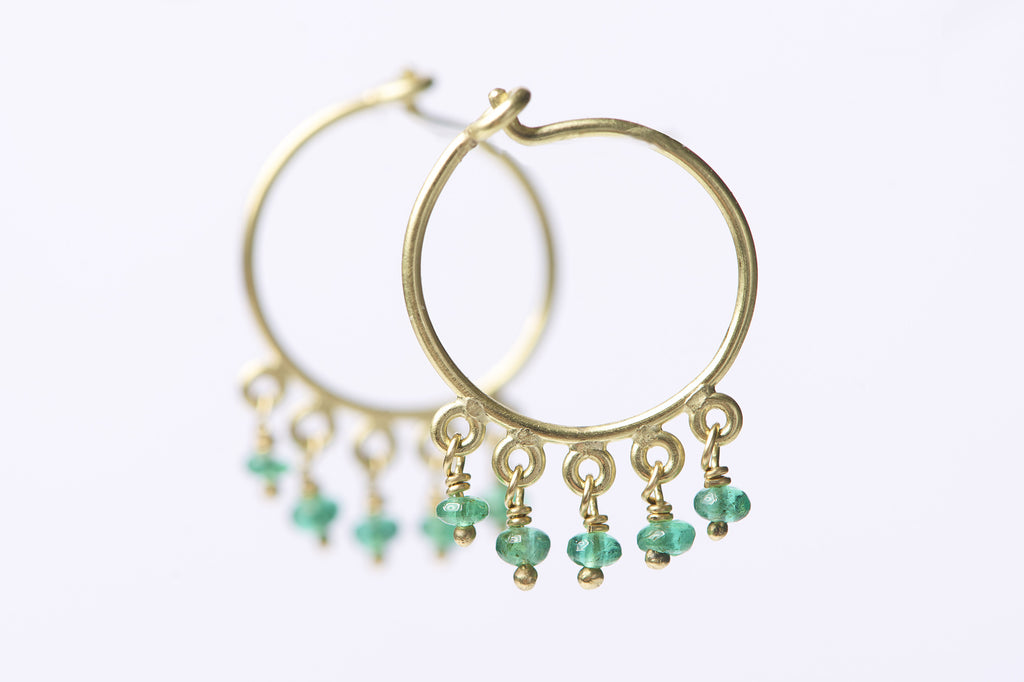 Delilah Emerald Earrings