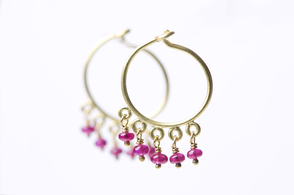 Delilah Ruby Earrings