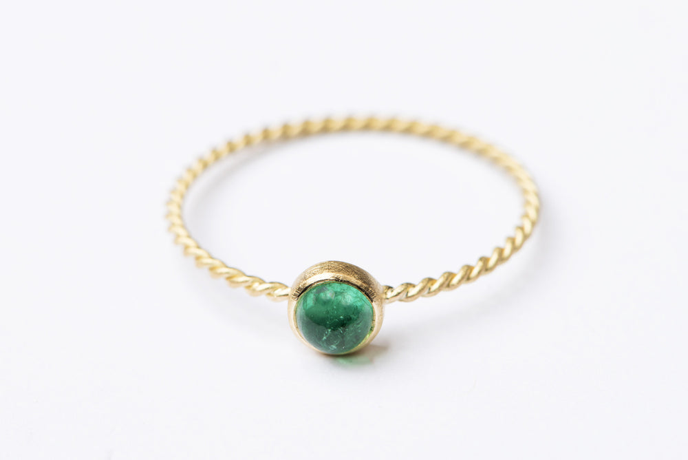 Delilah Emerald Ring