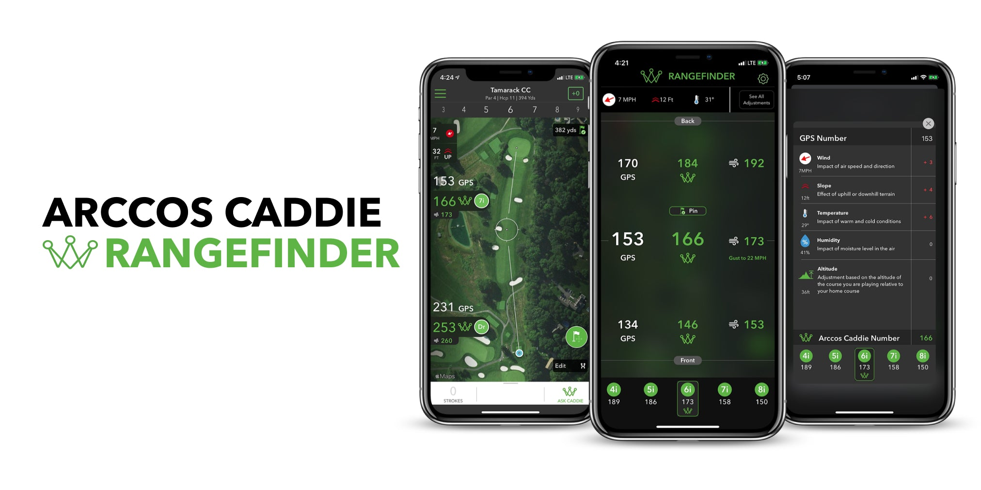 Arccos Caddie Rangefinder - Golf's First Artificial Intelligence Rangefinder