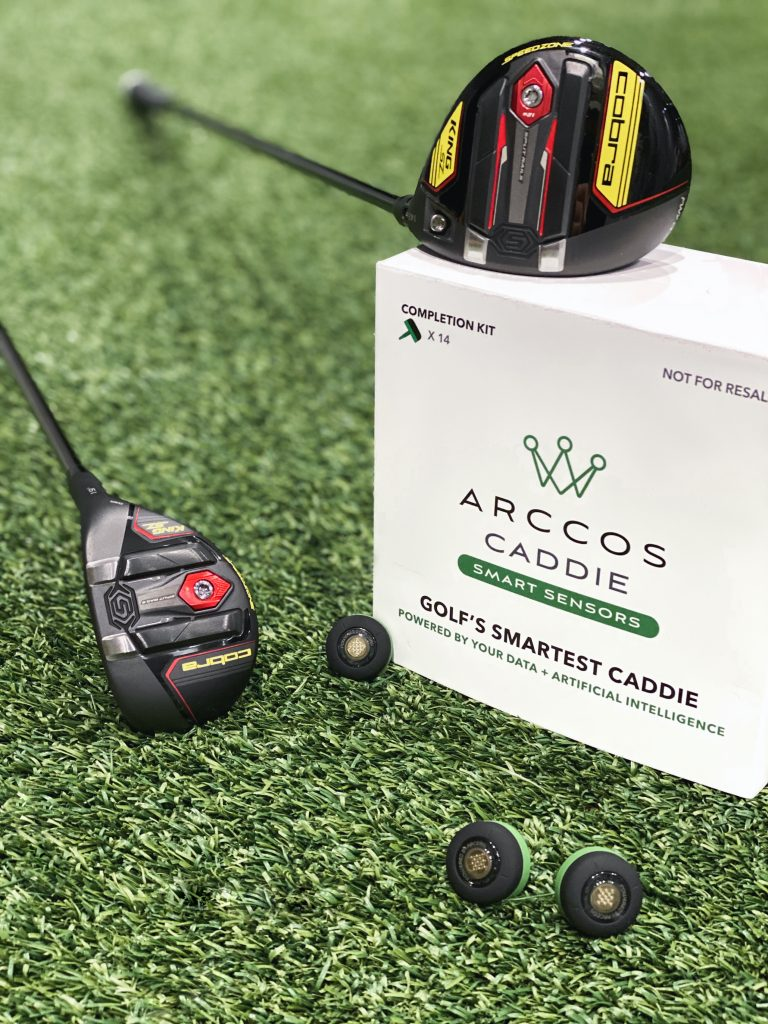 Single Cobra Golf Clubs can now upgrade to receive extra Arccos sensors to access the Arccos Caddie app