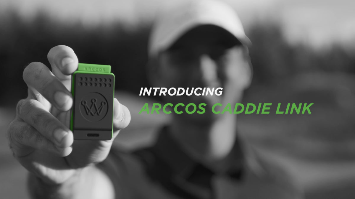 Introducing Arccos Caddie Link by Arccos Golf. Compatible with iPhone and Android.