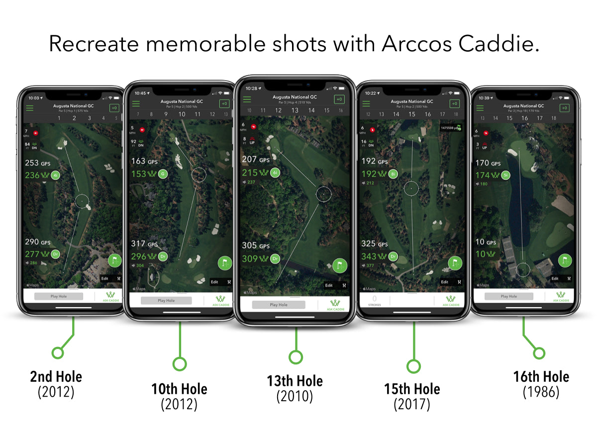 Recreate memorable shots with Arccos Caddie