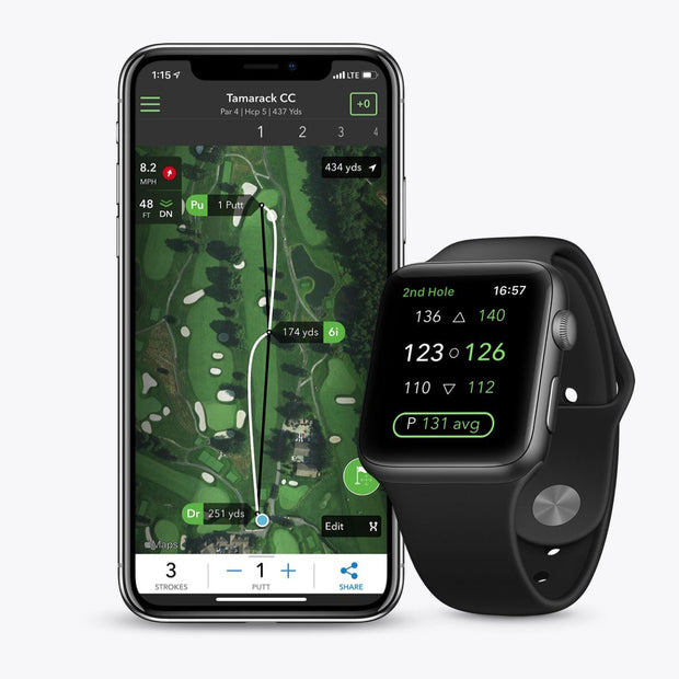Arccos Caddie is compatible with iPhone & Apple Watch