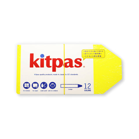 Kitpas 12 Color Crayon Set
