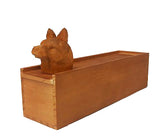 Wooden Box with Cat Head