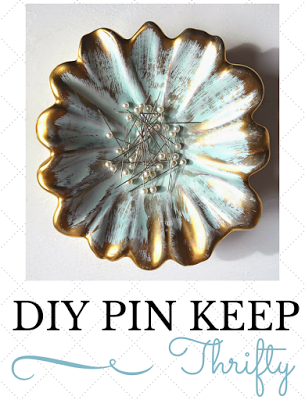 DIY Vintage Pin Keep