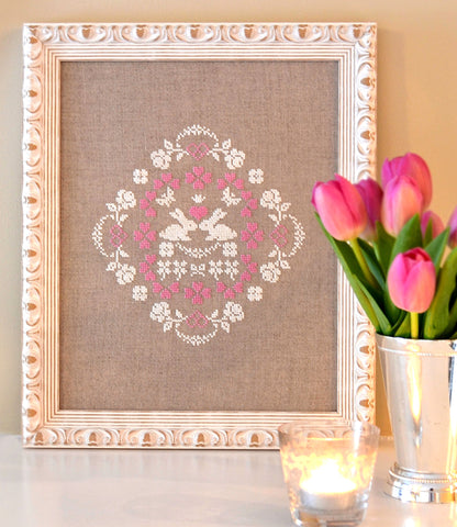 Bunny Love Cross Stitch Pattern