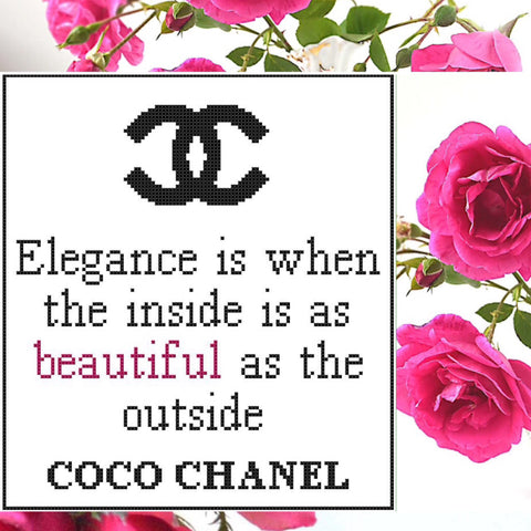 Free COCO CHANEL Cross Stitch Pattern