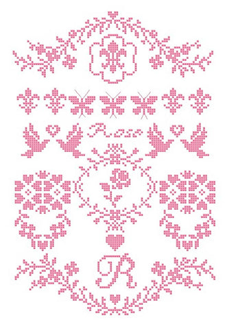 French Fleur De Lis & Rose Sampler