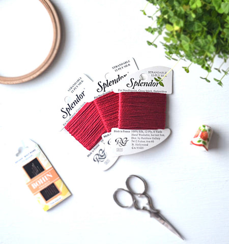French Red Silk Thread