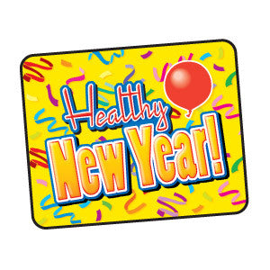 Healthy New Year! Holiday Sticker
