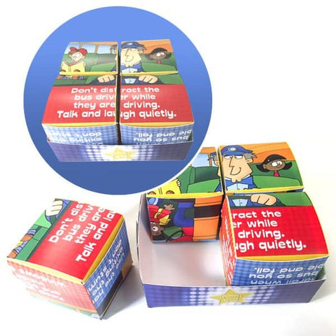 School Bus Safety Super Star Cube Puzzle