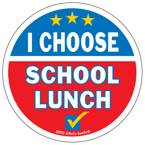 I choose lunch sticker