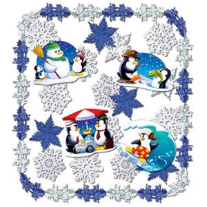 """Let It Snow!"" Metallic Decorating Kit"