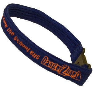 Nylon Fabric Danger Zone Wristband