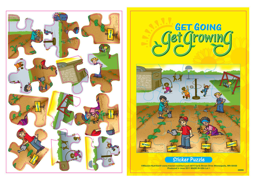 Get Going - Get Growing - Sticker Puzzle
