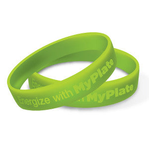 Energize with MyPlate Wristband