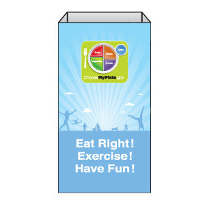 MyPlate - Eat Right, Exercise, Have Fun Super Sack