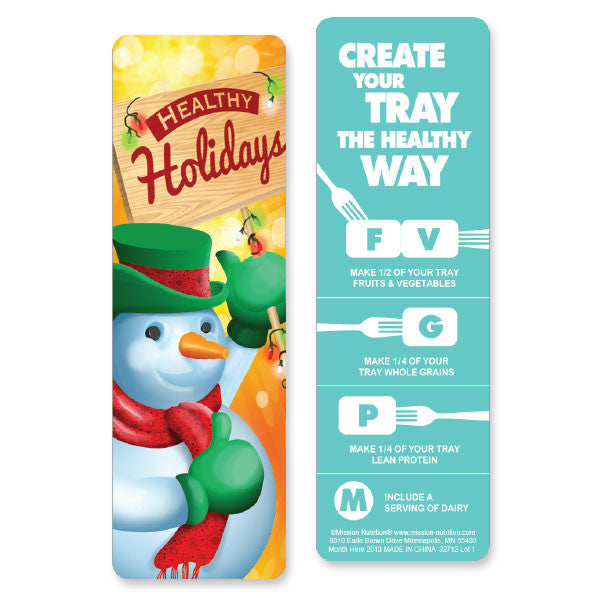 Healthy Holidays- Bookmarks