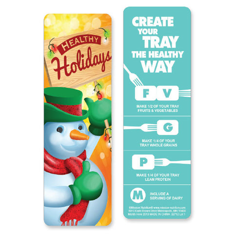 Healthy Holidays Bookmark